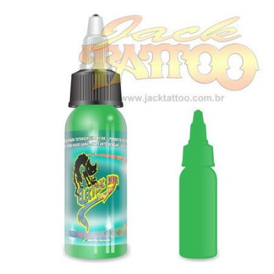 Tinta para Tatuagem - Ref 35 - Electric Ink 30ml - Verde Claro
