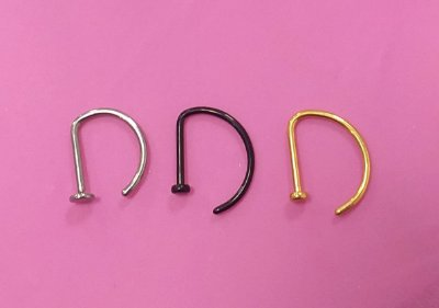 Piercing - D-ring titânio