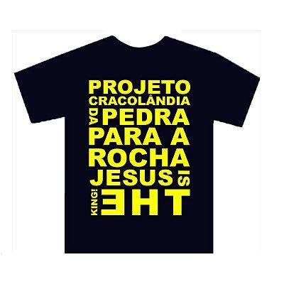Camiseta Azul Marinho com Amarelo