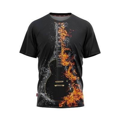 Camiseta Estilo Country Viola de Fogo