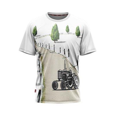Camiseta Estilo Country Trator Raiz