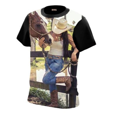 Camiseta Country Cowgirl Cowboy Domadora