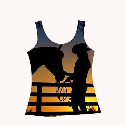 Regata Country Cowgirl Por do Sol