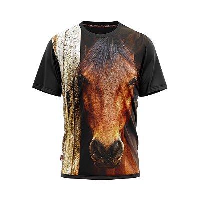 Camiseta Country Cowgirl Cowboy Rosto de Cavalo