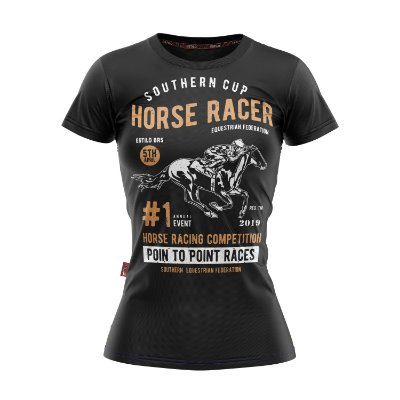 Baby Look Moda Country Cowgirl Horse Racer