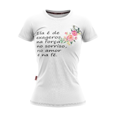Baby Look Moda Country Cowgirl Fé