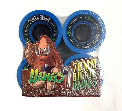 Roda Longboard BIGGIE Hawgs 70mm 78a Azul