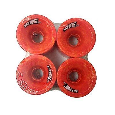 Roda Longboard Rayne Speed 70mm 80a Vermelha/Laranja