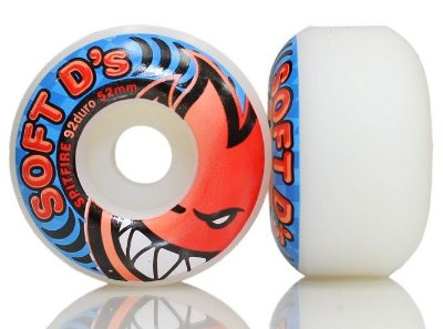 Roda SpitFire WHL Soft D's White 54mm