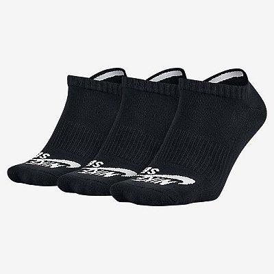 Meia Nike Sb No Show Rock 3PK Preta