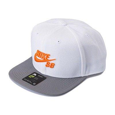 Boné Nike SB Icon Pro Branco/Cinza/Laranja