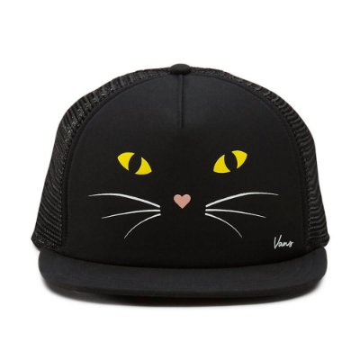Boné WN Lawn Party Trucker Black Cat