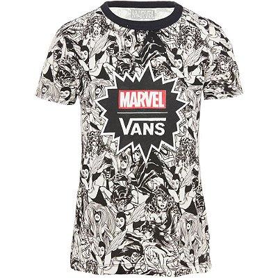 Camiseta Vans x Marvel Feminina baby tee black