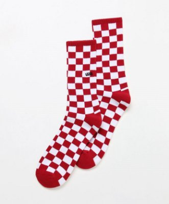 Meia Vans CheckerBoard Crew ll Red