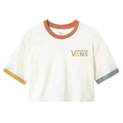 Camiseta Vans Boxy Crew Marshmallow Karina Rozunko