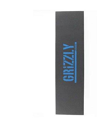 Lixa Grizzly Logo Marinho