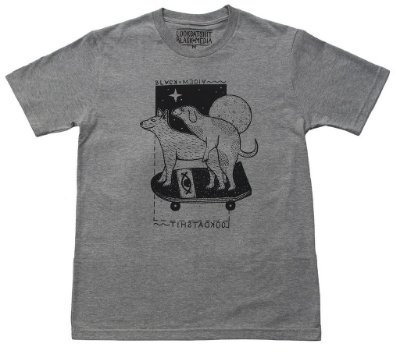 Camiseta LookDatShit x Black Media - Dog Love Cinza
