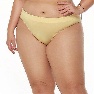 Calcinha Comfort Sem Costura Amarelo Aurora