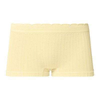 Calcinha Boxer Infantil Sem Costura Amarelo