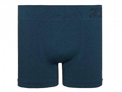 Cueca Boxer Sem Costura Azul Petroleo