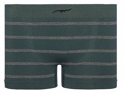 Cueca Boxer Infantil Stripes Sem Costura Verde