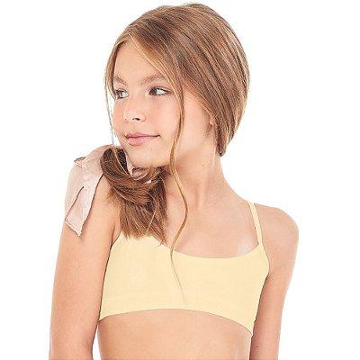 Top Infantil Sem Costura Amarelo