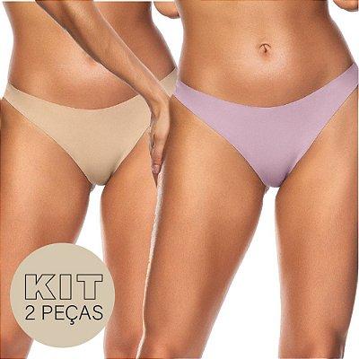Kit 2 Peças Calcinha Fio Dental Corte à Laser