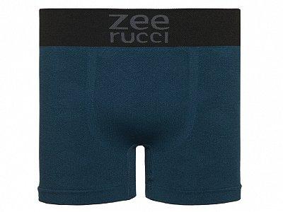 Cueca Boxer Jacquard Sem Costura Azul Esverdeado
