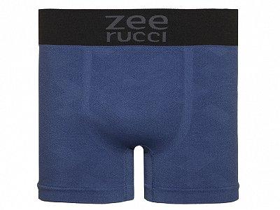 Cueca Boxer Jacquard Sem Costura Azul