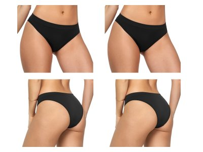 Kit 2 Calcinhas Tanga Sem Costura Preto