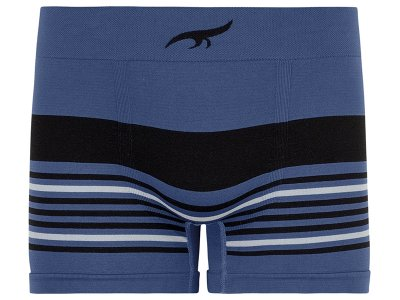 Cueca Boxer Listrada sem Costura  Azul Indigo
