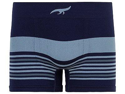 Cueca Boxer Listrada sem Costura Marinho