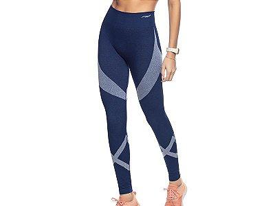 Calça Legging Fitness Sem Costura Cobalto