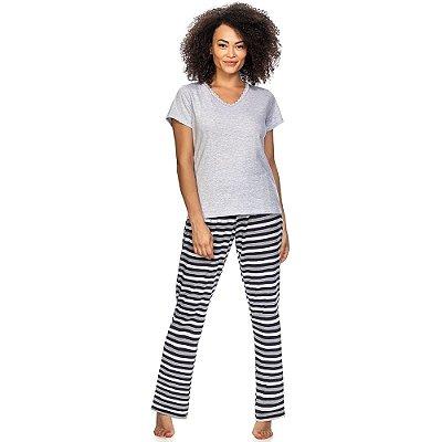 Pijama White & Blue Stripes