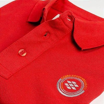 Camisa Polo Zebra Masculina Vermelho Serie RC00102-0005-013-61