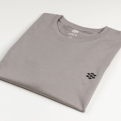 Camiseta Zebra Masculina Cinza Serie RC00101-0005-016-21