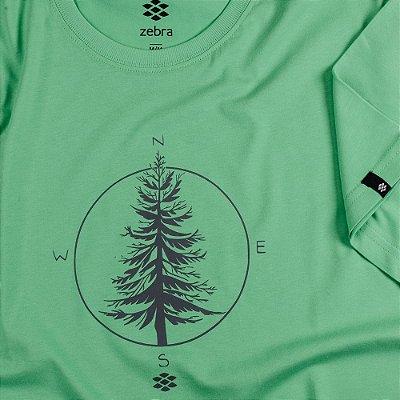 Camiseta Zebra Masculina Verde Serie RC00101-0005-014-90
