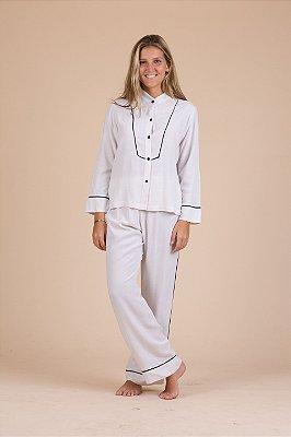 Pijama linho branco