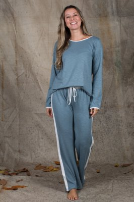 Pijama Manga longa Bicolor