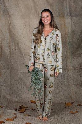 Pijama  com Botões Botanic