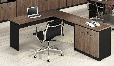 Mesa em L, Yaris com armário secretaria