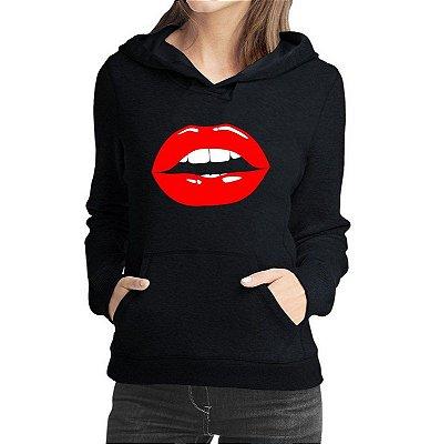 33b006028089 Casaco Boca Sexy Moletom Feminino - Moletons Personalizados Blusa