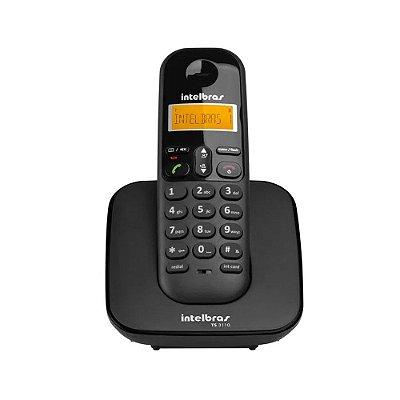 Telefone sem Fio TS 3110 Preto Bivolt 4123110 - Intelbras