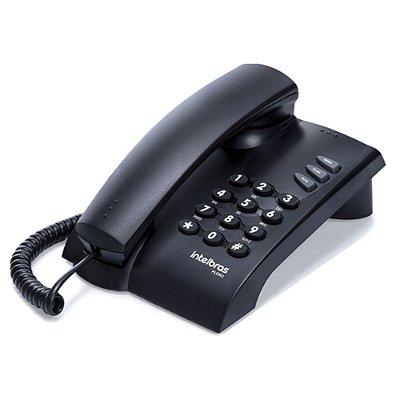 Telefone Pleno Preto com Chave com Fio 4080057 Intelbras