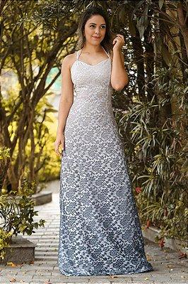 Vestido Longo Adriele Cinza