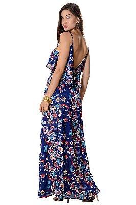 Vestido Longo Janaina Azul
