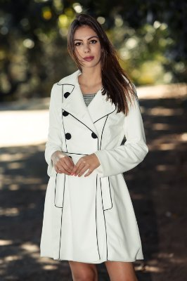 Trend Coat Marjorie OffWhite