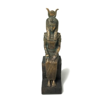 Escultura Rainha Egípcia em Resina