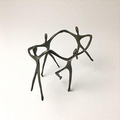Escultura Ciranda Casal +2 Meninos