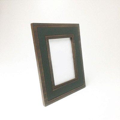 Porta-retrato Madeira e Verde